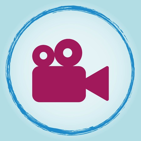 Video icon, vector illustration