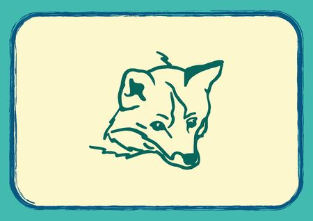 pure breed: Fox icon, vector illustration.