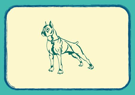 pure breed: Vector illustration of a dog. Aggressive purebred dog. Illustration
