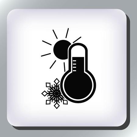 Thermometer icon Illustration
