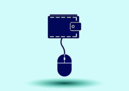 electronic balance: Electronic money icon