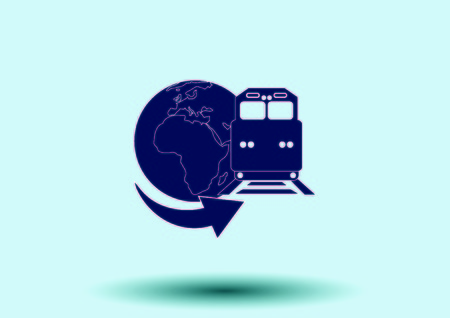 means of transport: Freight train icon