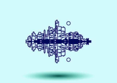 City silhouette icon. Vector Illustration. logo City landscape.