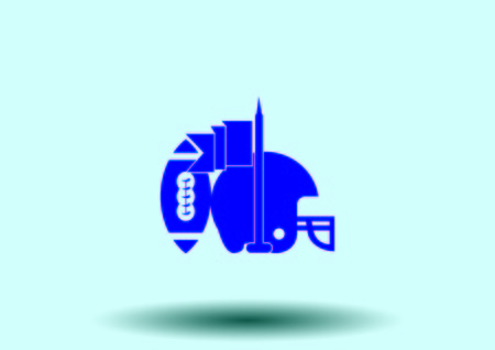 Equipment  American Football And Rugby icon Illustration