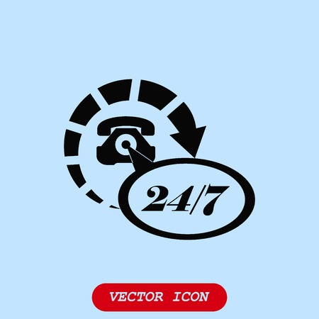Clock, call icon