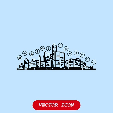 electric train: Smart city icon. Collection modern trend concept.  vector illustration symbol Illustration