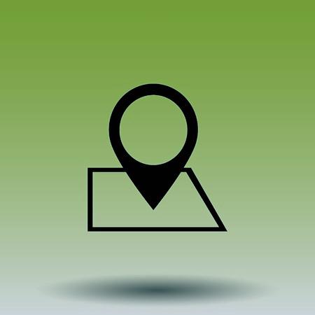 Navigator Guide itinerary icon Illustration