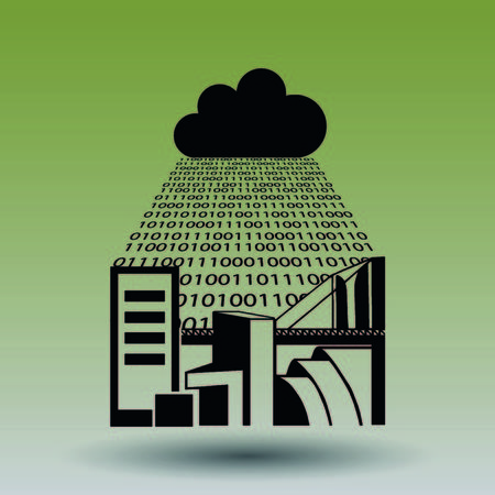 cloud technology: Cloud storage  icon  vector illustration . Technology icon