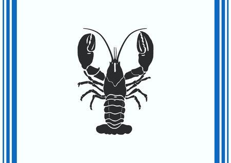 Lobster, cancer icon. Vector illustration. Illustration