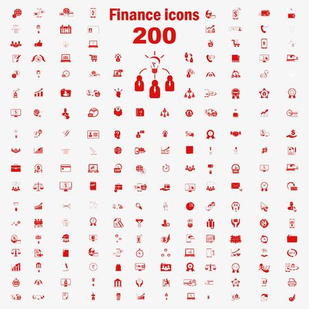 Business and Finance icons set, Bank icon, icon transaction, icon loan, on line sale icon, Internet banking icon.