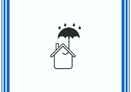 residential homes: house icon, vector illustration. Illustration