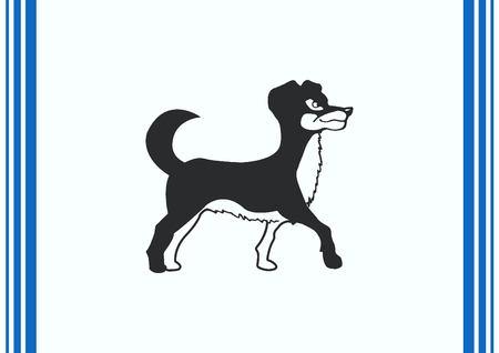 patrol: Vector illustration of a dog. Aggressive purebred dog. Illustration