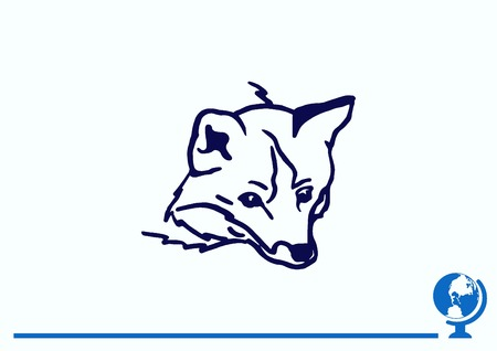 Fox icon, vector illustration.