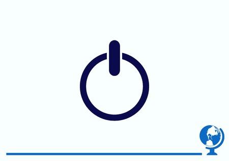 icon: Flat icon of power