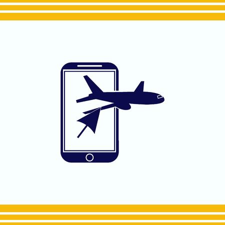 Aircraft icon Illustration