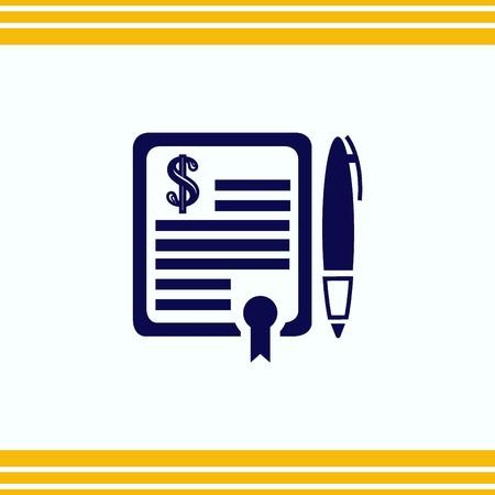 icon: Document determining identity icon. Illustration