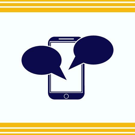 icon: Speech bubbles icon vector icon