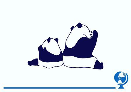Vector illustration of a panda.