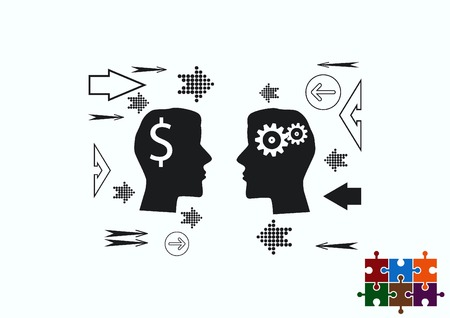 intellect: Business strategy icon, business concept icon, vector illustration.