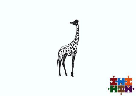 Giraffe icon, Vector illustration.