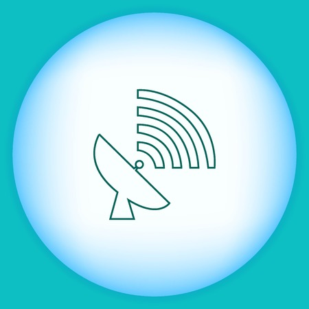 space antenna: antenna icon Illustration