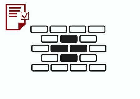 paredes de ladrillos: Bricks (brickwork, masonry), icon Vectores