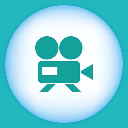 media player: Video icon, vector illustration