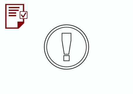 symbol  punctuation: Exclamation danger sign Illustration