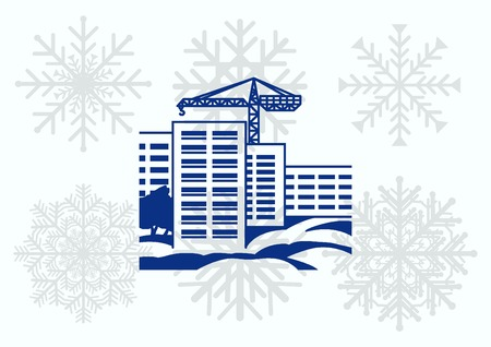 paesaggio industriale: Fabbrica silhouette icona. Illustrazione vettoriale. Paesaggio industriale. Industria pesante