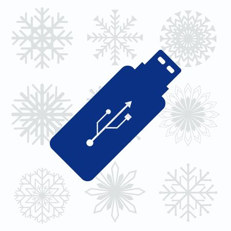 usb flash: USB flash drive icon