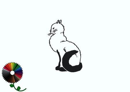 Cat icon, Vector illustration. Illustration