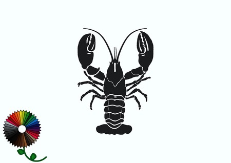 crustacea: Lobster, cancer icon. Vector illustration. Illustration