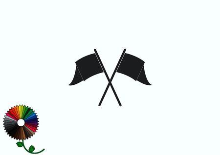 flagstaff: Flag icon Illustration