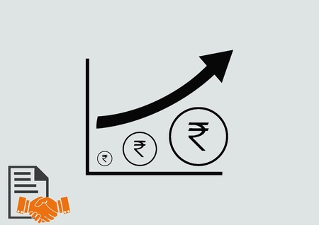 Indian Rupee banking icon
