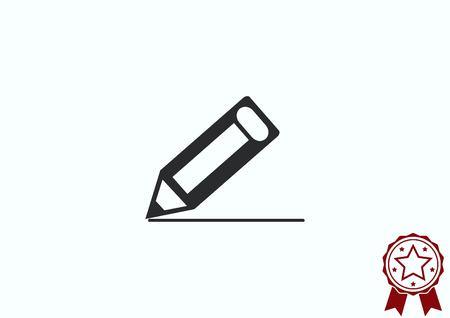 pencil writing: Pencil writing icon. Illustration