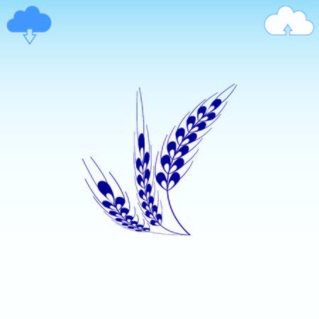 the spikes: Wheat  icon Illustration