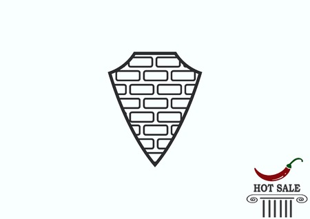 solid: Shield protection icon Illustration