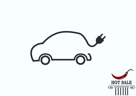 reabastecimiento de combustible de coches eléctricos híbridos icono de carga de la batería