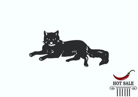 Cat icon, Vector illustration. Illustration