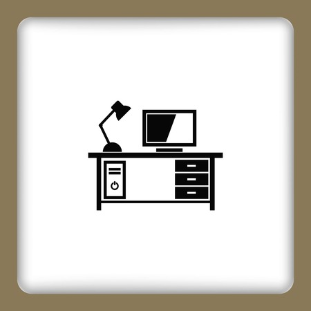 protecting your business: Computer on the table icon.