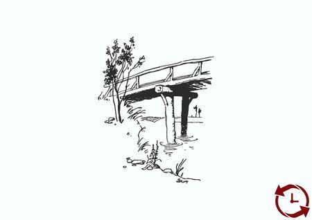 Retro landscapes. vector illustration, Agriculture field. Illustration