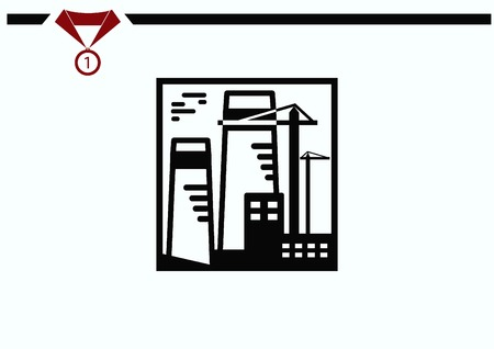 paesaggio industriale: Factory silhouette icon. Vector Illustration. Industrial landscape. Vettoriali