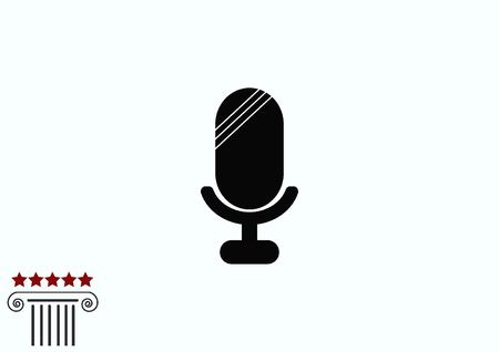 microfono antiguo: old microphone icon