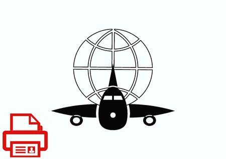 Aircraft icon Illustration