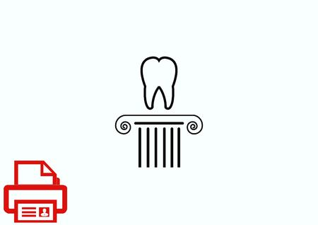 carious cavity: Dentistry, dental treatment  icon Illustration