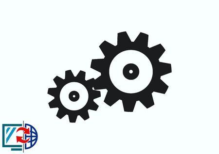 spare parts icon 向量圖像