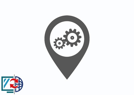 distance marker: Navigator Guide itinerary icon Illustration