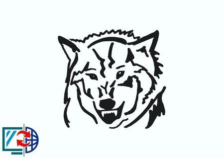 Wolf icon, vector illustration. Illustration