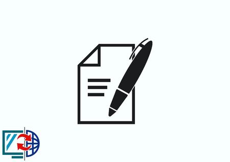 Pencil writing icon. Çizim