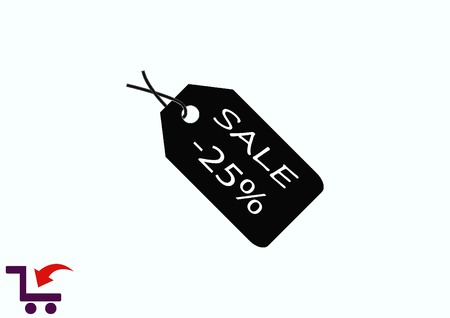 SALE tag icon, vector illustration. Flat design style Illustration